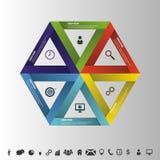 Stratégie d'Infographic dans l'hexagone Affaires réussies Vecteur Photo libre de droits