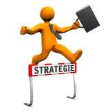 Stratégie de course d'obstacles Photographie stock libre de droits