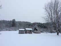 Stratham Snowday Στοκ φωτογραφία με δικαίωμα ελεύθερης χρήσης