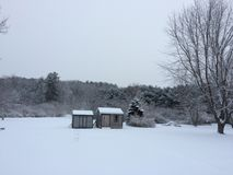 Stratham Snowday. Winter in Stratham NH Royalty Free Stock Photo