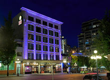 Strathcona Hotel and Pub at night Royalty Free Stock Photo