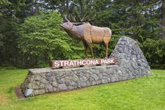 Strathcona Provincial Park Entrance Table on Vancouver Island BC Canada royalty free stock photos