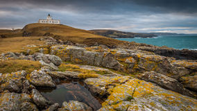 Strathy lighthouse, Near Thurso Stock Images