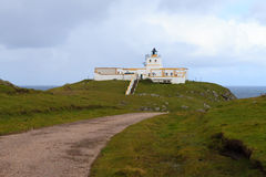 Strathy Point Lighthouse close up Stock Images