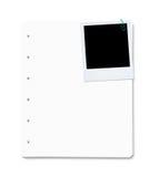 Strati del documento in bianco con lo spazio della copia Fotografia Stock Libera da Diritti