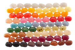 Strati del fagiolo di gelatina immagini stock libere da diritti