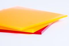 Strati del plexiglass colorati Fotografia Stock Libera da Diritti