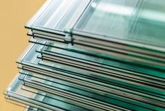 Strati del vetro di finestra temperato fotografie stock libere da diritti