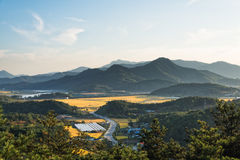 Strati della montagna in Corea Immagini Stock