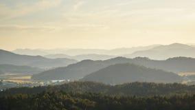 Strati della montagna in Corea Fotografia Stock Libera da Diritti