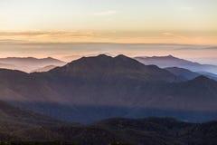 Strati della montagna, montagna di Inthanon, Chiang Mai Immagine Stock Libera da Diritti