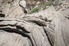 Strati della roccia del granito Immagine Stock Libera da Diritti
