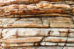 Strati della roccia dell'arenaria Fotografia Stock