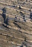 Strati della roccia sedimentaria Fotografia Stock Libera da Diritti