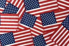 Strati delle bandiere americane Fotografie Stock Libere da Diritti