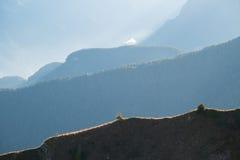 Strati delle dolomia della montagna Immagine Stock Libera da Diritti