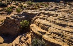 Strati delle formazioni rocciose nel sud-ovest Stati Uniti Fotografia Stock Libera da Diritti