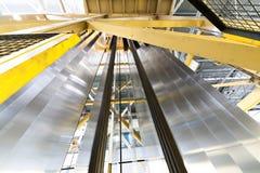 Strati di alluminio rotolati verticalmente Fotografia Stock Libera da Diritti