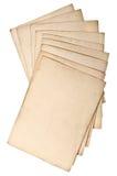 Strati di carta grungy antichi isolati su bianco Fotografie Stock Libere da Diritti