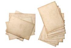 Strati di carta grungy usati Pila del cartone Fotografia Stock Libera da Diritti