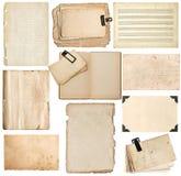 Strati di carta, pagine del libro, cartone, struttura della foto con l'angolo Fotografia Stock
