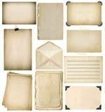 Strati di carta usati messi Le pagine d'annata del libro, strutture della foto, avvolgono Immagine Stock Libera da Diritti