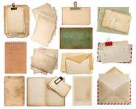 Strati di carta usati Pagine d'annata del libro e dell'album di foto Fotografia Stock