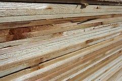 Strati di legno Fotografia Stock