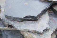 Strati di pietra della lastra Fotografie Stock Libere da Diritti