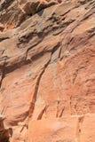 Strati di roccia dai cambiamenti di geologia Fotografie Stock