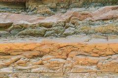 Strati di roccia dai cambiamenti di geologia Immagini Stock Libere da Diritti