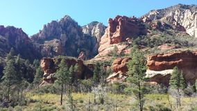 Strati di roccia rossa Fotografie Stock