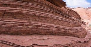 Strati di roccia sedimentaria Fotografia Stock