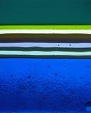 Strati di vetro fatto a mano nei colori differenti immagini stock libere da diritti