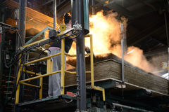 Strati heated Immagine Stock
