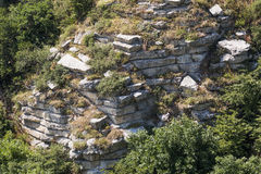Strati nudi della montagna di Lisaya della crosta, Russia Immagini Stock Libere da Diritti