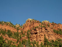 Stratified arid cliffs Stock Photography