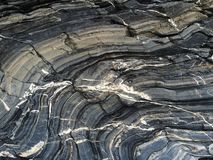 Stratified Layers of Shale Stone Royalty Free Stock Photos