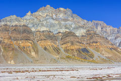 Stratified mountain Stock Images