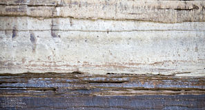 Stratigraphic close up material natural cracked texture Royalty Free Stock Photos