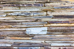 Stratigraphic close up material stone natural cracked texture Royalty Free Stock Photo
