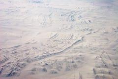 Stratigraphie dans la neige Images stock