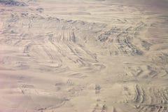 Stratigraphie pliée dans la neige Images libres de droits