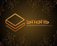 Stratis-blockchain Art-Hintergrunddesign Stockfoto
