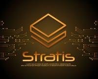 Stratis-blockchain Art-Hintergrunddesign Lizenzfreie Stockfotos