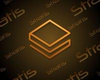Stratis-blockchain Art-Hintergrunddesign Stockfotos
