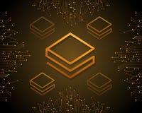 Stratis-blockchain Art-Hintergrunddesign Stockbilder