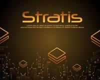Stratis-blockchain Art-Hintergrunddesign Stockfotografie