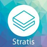 Stratis Strat decentraliserade logo för vektor för blockchaincriptocurrencyplattform Royaltyfria Foton