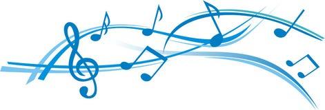Strato astratto di musica con priorità bassa bianca Immagini Stock